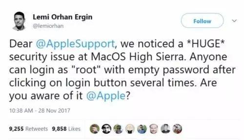 紧急通知:密切关注Mac身份鉴权漏洞